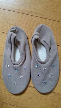 ブラウン色の靴下(20〜22�a)
