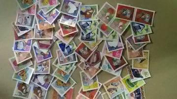 80円年賀切手バラ色々60枚新品未使用品  年賀8060ー2