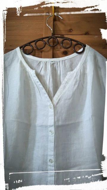 *無印*リネン100% 7ブソデpo&羽織 未使用 白 < ブランドの