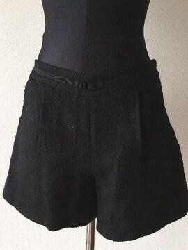 [vis]★リボン付きショートパンツ・ブラックカラー・サイズ[S]★