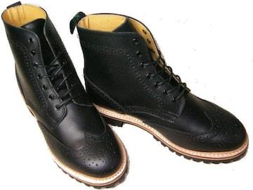 ゲッタグリップ ウィングチップ ブーツ8510BLカジュアルuk7.5