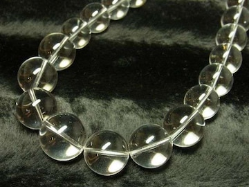 大玉がゴツくてカッコイイ 本水晶クリスタル数珠ネックレス 開運招来