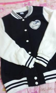ローズファンファン裏起毛スウェット素材のジャケット160
