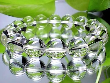パワーストーン☆天然石!!水晶12ミリ数珠ブレスレット§浄化・能力開花