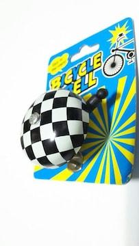 【新品・未使用】カッコいい自転車のベル・市松模様・チェス柄