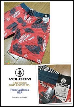 VOLCOM最新高機能ストレッチボードショーツ本物USAモデル!大特価