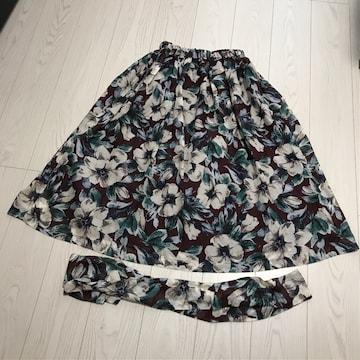 ダブルクローゼットw closet花柄ロングスカート丈84Fサイズ美品