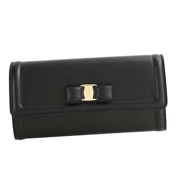 ◆新品本物◆サルヴァトーレフェラガモ 長財布(BK)『22D154』◆