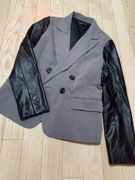 B002/INGNI/グレー×ブラック/ジャケット/