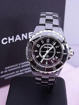 CHANEL シャネル J12 クォーツ時計 セラミック 黒 H0682 美品★dot