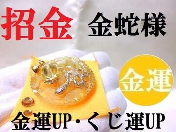金蛇様★金運・くじ運・ギャンブル運UP★開運招金/パワーストーン/占