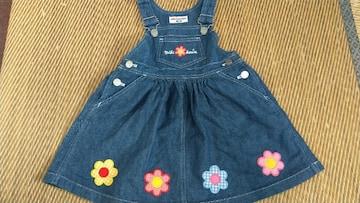 ミキハウス お花ジャンバースカート