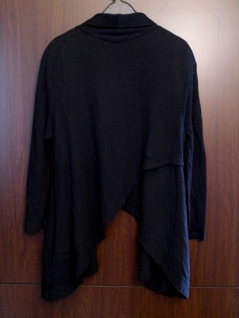 ◆アレキサンダーワン レディース 変形デザイン カーディガン黒 < ブランドの