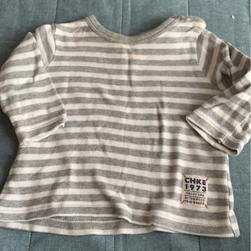 60-70センチ/ボーダー長袖Tシャツ