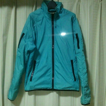 55DSLナイロンジャケットMサイズグリーンブルー青緑インポートスポーツ55ディーゼルハデ中古