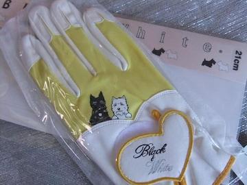 新品■Black&Whiteブラック&ホワイト◆グローブ右手用21cm¥3,990