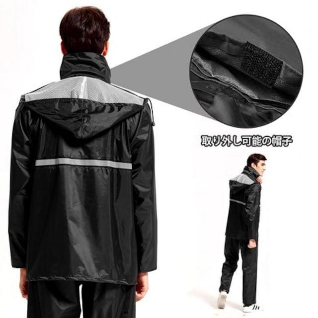 レインコート上下セット レインスーツ 2点  黒 < 男性ファッションの