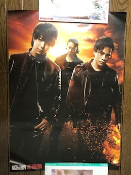HiGH&LOW THE RED RAIN ポスター