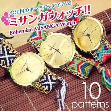 ボヘミアンスタイル腕時計 ブレスレット Watch ミサンガウォッチ