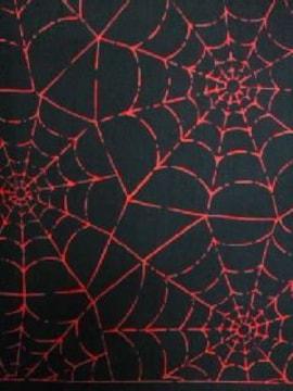 ◆新品バンダナ◆蜘蛛の巣柄◆Black/Red◆
