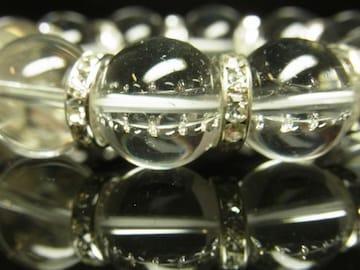 運気を高めるパワーストーン 本水晶クリスタルブレスレット 16mm数珠