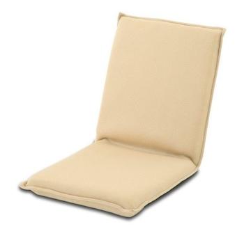 座椅子 フロアチェア 1人掛け 座いす 折りたたみ ベージュ