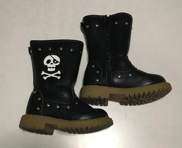 スカル柄ブーツ