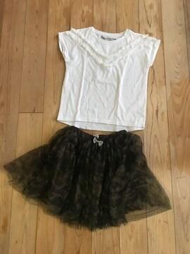 グローバルワーク キッズ Tシャツ スカートキュロット 120130 XL