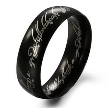 新品 1円〜★送料無料★ 31号 ステンレス鋼 ブラックリング K18BGF 指輪