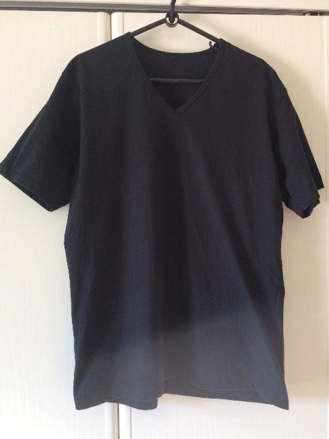 無印良品 Vネック Tシャツ 汗染み防止 ブラック  < ブランドの