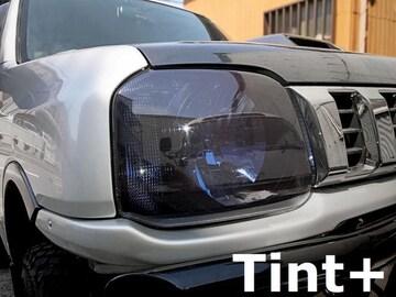 Tint+水洗→再利用OK ジムニー JB23W ヘッドライト スモークフィルム