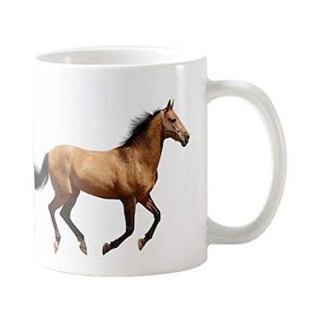 躍動する馬のマグカップ (B:駆けている馬)