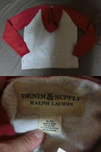 RALPHLAUREN DENIM & SUPPLY裏起毛タイプ プルオ-バ-パ-カ-US XL < 男性ファッションの