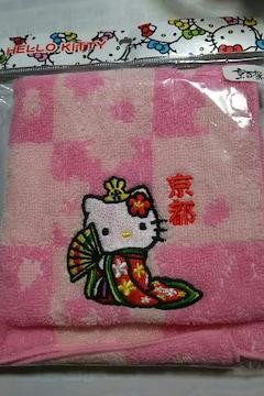 ☆京都限定 十二単キティ ジャガードタオル 桜☆