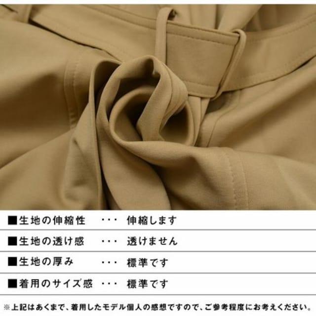 襟ワイヤー入ポンチ素材トレンチコート新品ブラックL < 男性ファッションの