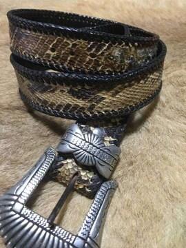 クールス チョッパー 錦蛇ドラゴンベルト ダイヤモンドパイソン