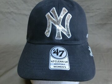 【47BRAND】 MLB N.Y ヤンキース キラキラロゴ刺繍入CAP