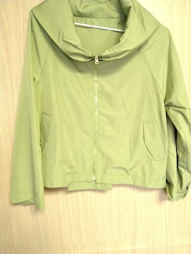 ライトグリーン ガーリー 薄手ジャケット