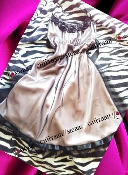 【ブラックチュール//ラメ入り//ベビーピンク色ドレス】