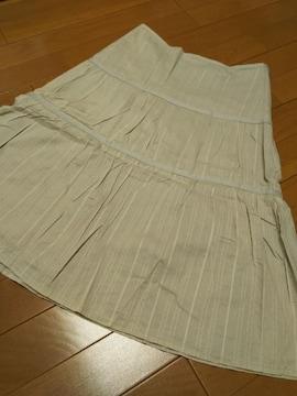 OZOC 38/膝丈デザイン綺麗なお姉さんスカート/グレージュ