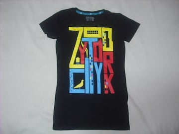wr490 女 ZOO YORK ズーヨーク 黒 半袖Tシャツ Sサイズ ★