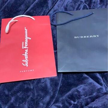 Burberry★フェラガモ★ショップ袋★セット