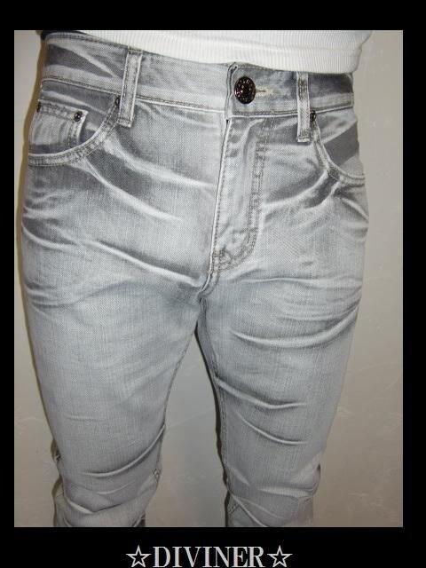 送料無料☆DIVINER☆ハードブリーチウォッシュジーンズ☆34(XL) < 男性ファッションの