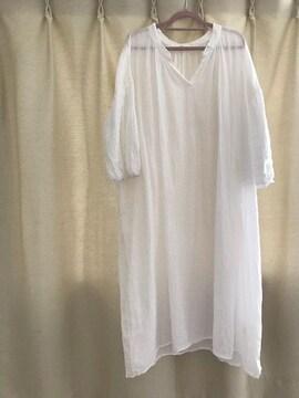 今季スタジオクリップM白トップス美品チュニック綿100%マタママ