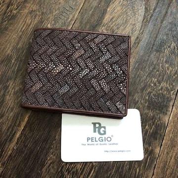 PELGIO 希少な網目仕様のスティングレイ(エイ革)財布 2