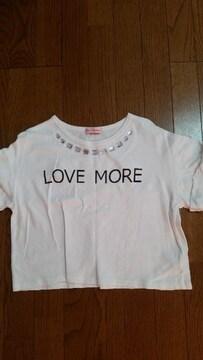 ビジュー付きロゴショートTシャツ