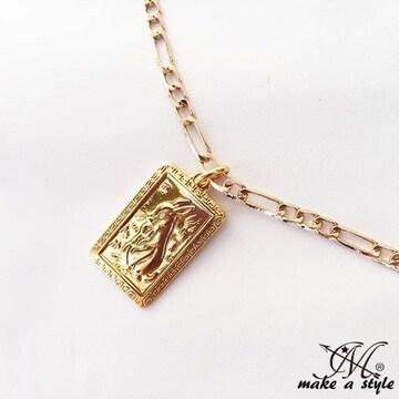 ウサギ うさぎ フィガロ チェーン612金ゴールド GOLD ネックレス