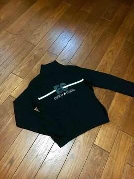 【即決】エンリココベリ◆ロゴ入◆上質Blackニット◆40