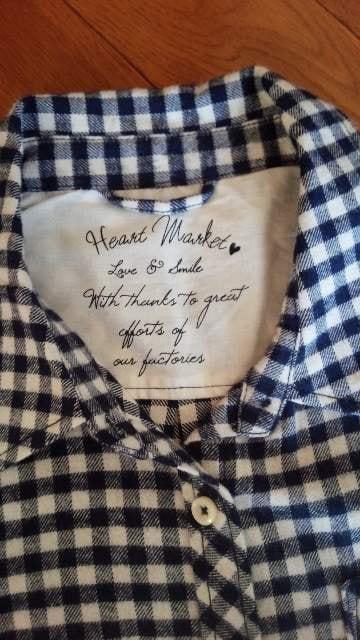 HEART MARKET ハートマーケット*ネル チェックシャツ L < ブランドの