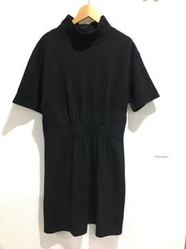 ZARA ザラ ワンピース チュニック 半袖 ハイネック 黒 ブラック